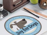 Custom pet business logo design joy for dogs