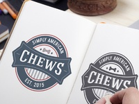 Pet business logo design for simply american chews
