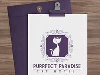 Cat pet hotel logo design by sniff design studio