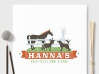 Hanna s pet sitting farm custom logo design