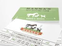Hanna s pet sitting farm business card design by sniffdesign