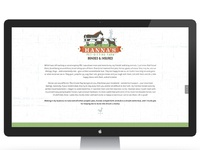 Hanna s pet sitting farm business one page site design