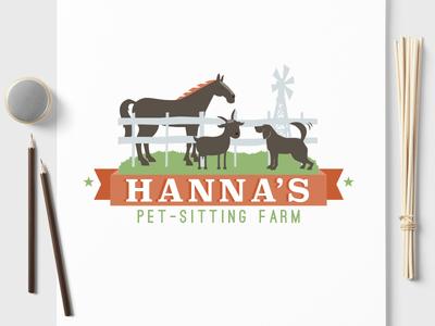 Pet Business Logo Design for Hanna's Pet Sitting Farm