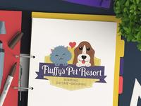 Pet daycare business logo design for fluffys pet resort by sniffdesignstudio