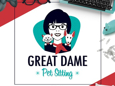 Pet Business Logo Design For Great Dame Pet Sitting