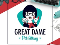 Pet Business Logo Design For Great Dame Pet Sitting