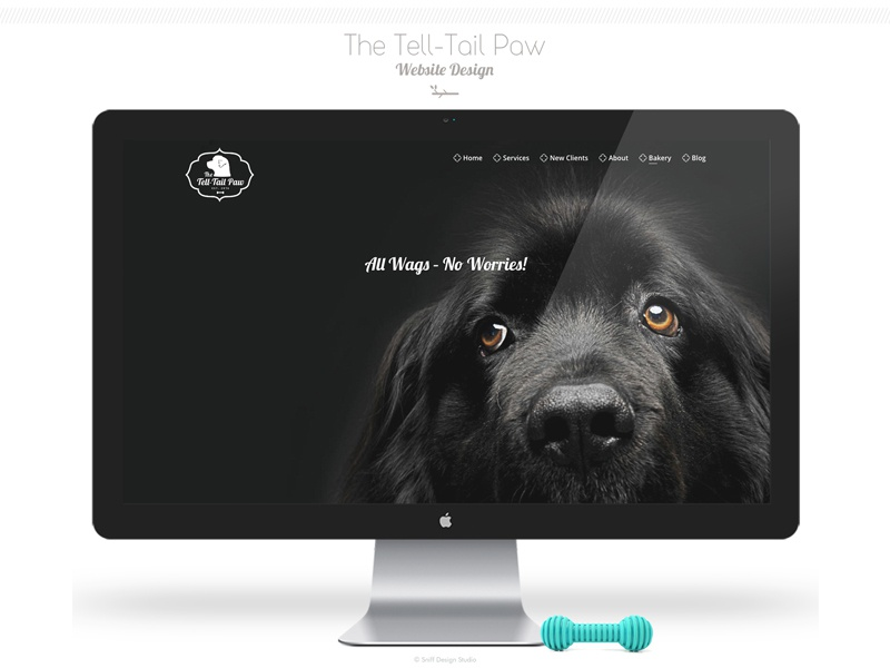 The Tell Tail Paw Pet Business Site Design - Part 1 pet design canine paw pet web design branding pet training logo design canine bakery pets