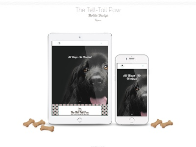 The Tell Tail Paw Pet Business Site Design - Part 2 pets dogs paw responsive design pet training logo design dog training pet bakery canine