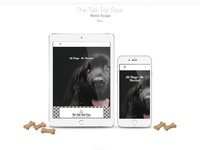 The Tell Tail Paw Pet Business Site Design - Part 2