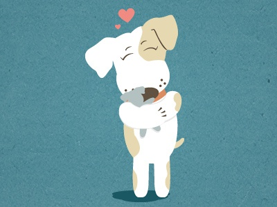Pet illustration baby wags