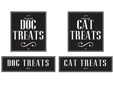 Pet treat design labels