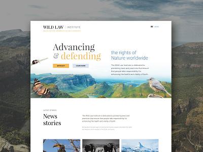 Wild Law Slider photography typography sliders website