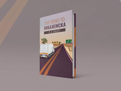 The Road to Innamincka bookcover editorial design vector typography illustration