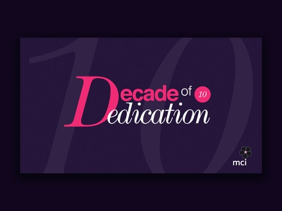 Decade of Dedication pdf digital design cover logo