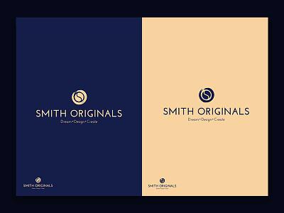 Smith Originals gold blue texture brush design logo