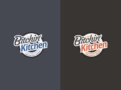 Bitchin' Kitchen cool warm typography branding logo