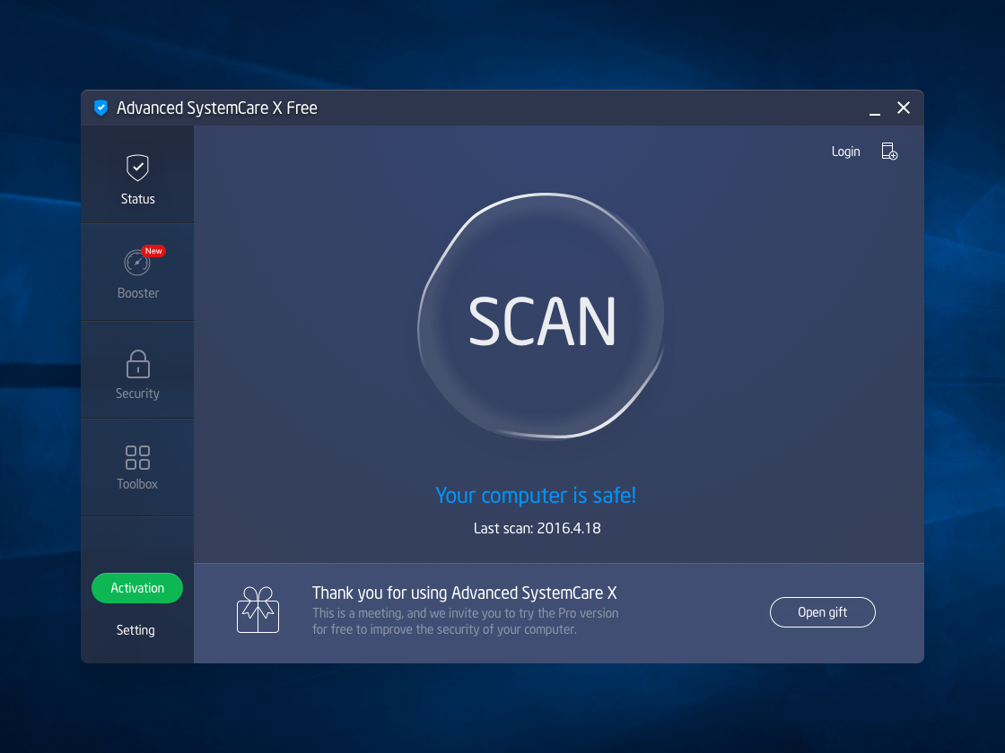 Advanced Systemcare X by Cheops on Dribbble