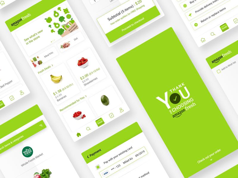 Amazon Fresh UI #2  🥑🥦🥕 iran design ui app amazon