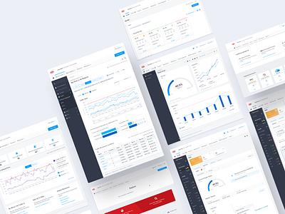 Equinix analytics line graph tiles sidebar cards flat app design platform app product portal ux ui graph charts chart data data viz data visualization data center