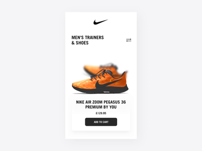 Nike Shopping Experience ✔️ ux ui shopping cart add to cart shopping app shopping principle nike air max nike shoes nike motion interface interaction design interaction checkout app animation