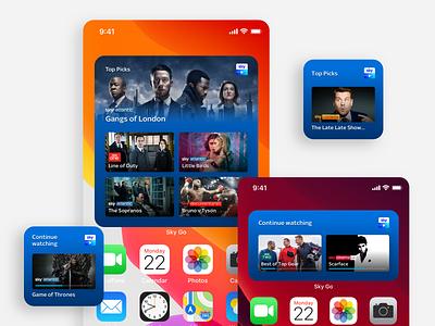 Sky Go Widgets 🎬 iphone ipad iphone widget ios 14 sky go sky video widget vod ui app widget app design ios widgets ios widgets widget