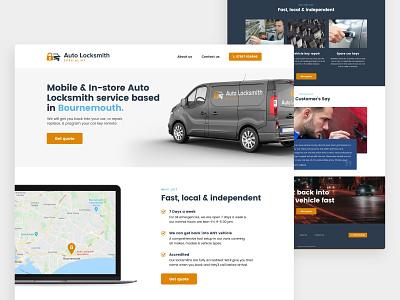 Auto LockSmith 🚗🔑🔒 car lock bournemouth micro site microsite car locksmith locksmith auto web design website interface ux ui