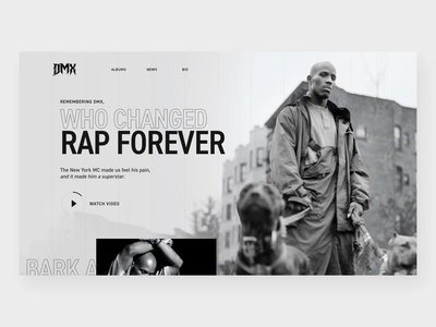 DMX Tribute Site din pro zooming zoom animation parallax zoom parallax website parallax scrolling parallax after effects ux ui dmx
