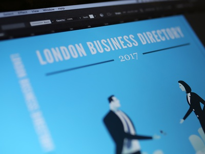 London Business Junction Directory Design - 2017 branding directory magazine clean london print design 2017 brochure design