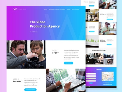 One Page Site, Video Production Agency 🎥   layout one page agency video gradient website interface ux ui web design