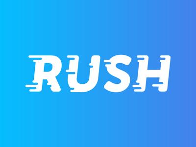 Rush Logo gradient identity branding rush flat movement logo design logo