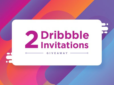 2 Dribbble Invites giveaway invite invitation draft invites dribbble