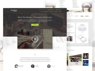 Gold Key Media Website Design website design interface website design ui ux web design
