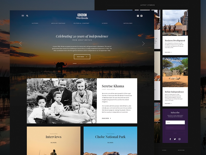 BBC Botswana Web Design 🐘 website design website web design ux ui interface design bbc worldwide bbc