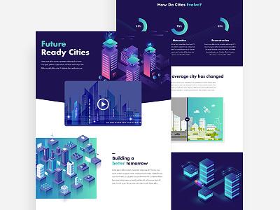 Future Cities 🚀 city future web design website interactive infographic design ux ui