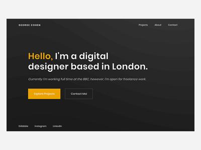 New Portfolio   2019 portfolio design flat web design website interface ui