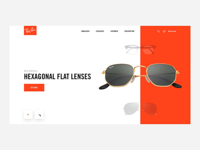 Rayban Shopping Concept interaction invisionstudio ecommerce shopping rayban motiongraphics invision studio ux ui animation