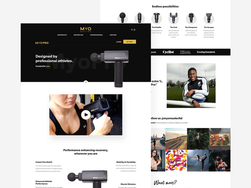 MyoPro Website 💪 massage therapy sports recovery preloader gym recovery fitness after effects web design animation website interface ux ui