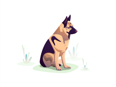 Dog vector illustrator illustration animals orange friend dog