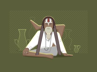 yoga man ui illustrator man style illustration texture yogaman yoga inspiration vector design