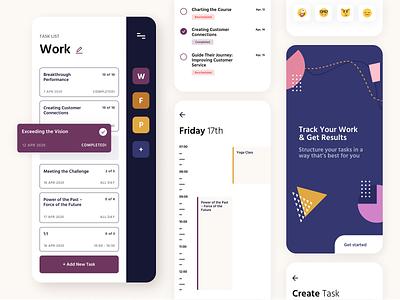 Task tracker app concept mobile mobile ui concept app design uiux ui ui design mobile design mobile app concept mobile app