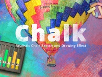 Realistic Chalk Drawing Effect — PS action