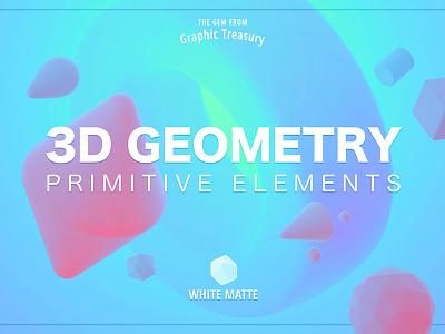 3D Geometry — Primitive Elements template surface shape decorations matte volumetric 3d white soft primitives geometry elements