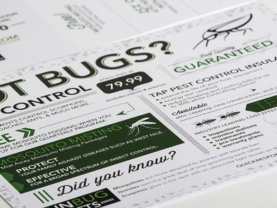 Texas Pest Pro flyer graphic design infographic