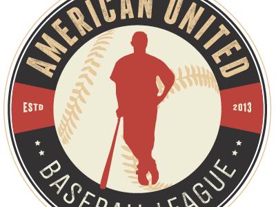 Baseball League Badge logo typography vintage