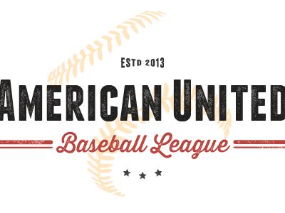 Baseball League Logo logo typography vintage