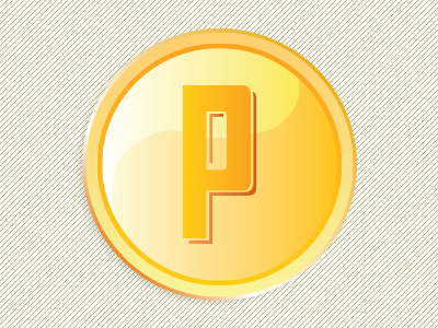 P Coin illustration ui elements icon