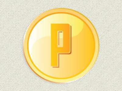 P Coin illustration ui elements icon