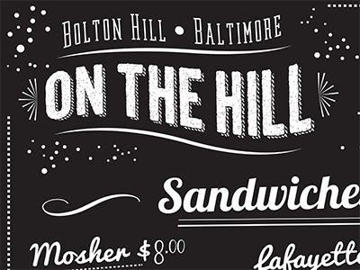 On The Hill Cafe restaurant baltimore chalkboard type