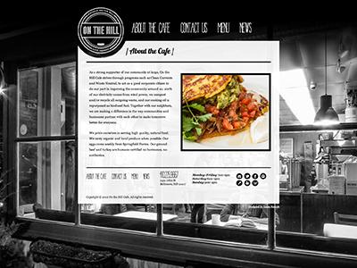 On The Hill Cafe Website web design baltimore restaurant