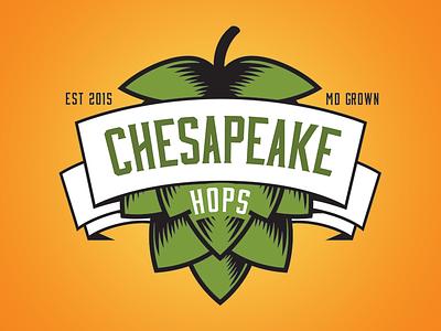 Chesapeake Hops Co. produce maryland hops beer logo